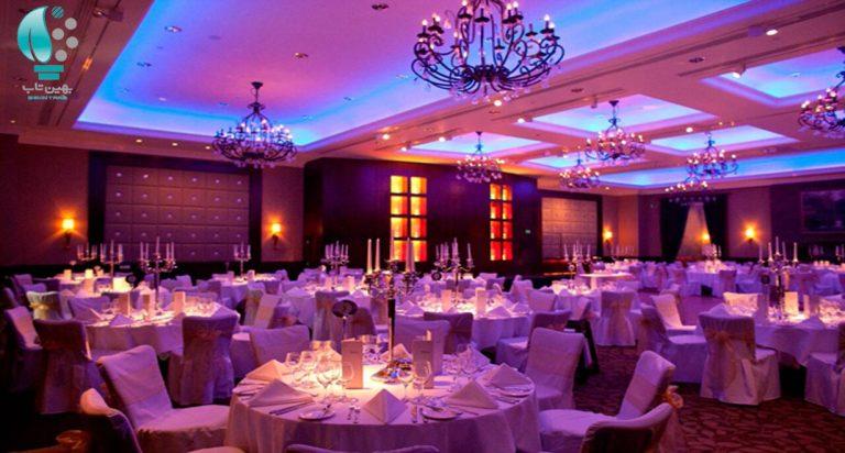 پروژکتور , نورپردازی , والواشر , تالار عروسی , دکوراتیو , نورپردازی موضعی , چراغ نورپردازی تالارها
